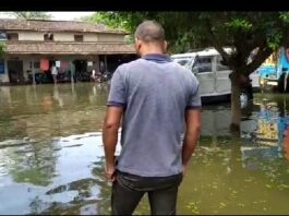 बिहार के मोतिहारी में बाढ़ का कहर जारी है