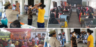 """कुशीनगर जनपद में""""मिशन शक्ति"""" के अन्तर्गत छात्राओं को किया गया जागरुक"""