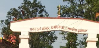 रामकोला: प्राचीन दुर्गा मन्दिर धर्मसमधा: शारदीय नवरात्र उत्सव।