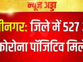 कुशीनगर: जिले में 527 और कोरोना पॉजिटिव मिले
