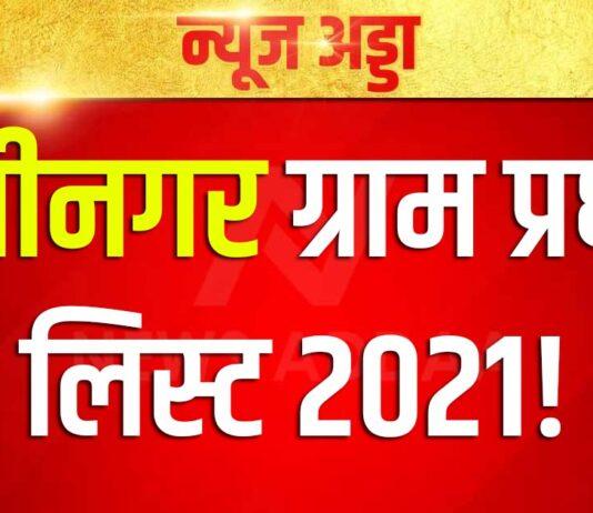kushinagar gram pradhan list 2021
