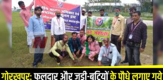 गोरखपुर: फलदार और जड़ी-बूटियों के पौधे लगाए गये