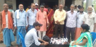 On the second day of the service week, the workers of Pipra Bazar Mandal organized a cleanliness and health check-up program in the village.