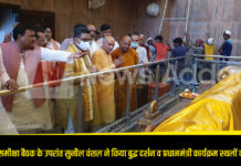 After the Kushinagar review meeting, Sunil Vanshal did Buddha Darshan and inspected the Prime Minister's programs
