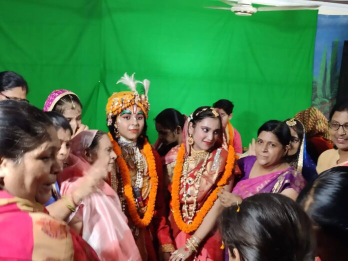 Ramkola: The story of Rukmani marriage was described on the sixth day of Shrimad Bhagwat Katha.