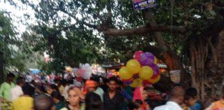 Kasaya: The burning of the effigy of Ravana in the Dussehra fair held